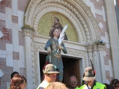 San Pancrazio è arrivato al Santuario per scortare il velo a Manoppello